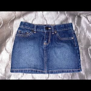 NWOT girls denim skirt